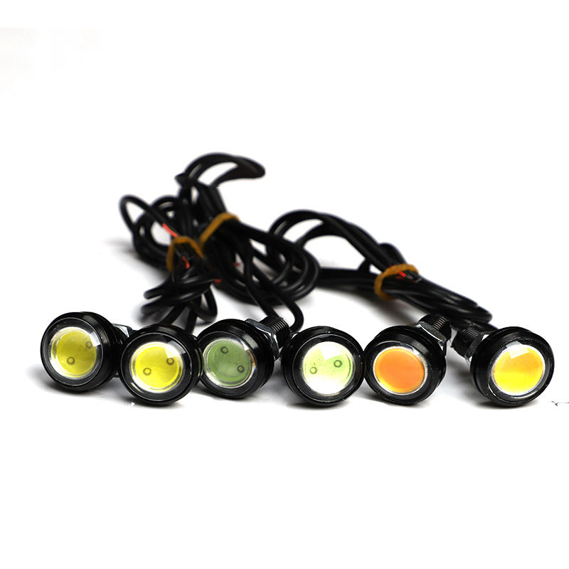 18 / 23MM Car Eagle Eye DRL Led Daytime Running Lights LED 12V Backup Reversing Parking Signal Automobiles Lamps DRL Car stying