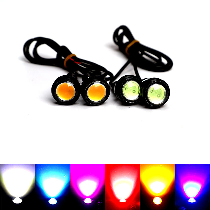 18 / 23MM Car Eagle Eye DRL Led Daytime Running Lights LED 12V Backup Reversing Parking Signal Automobiles Lamps DRL Car stying