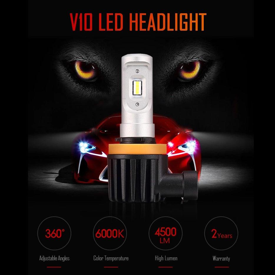 Best LED Headlight Bulb Kits For Cars V10