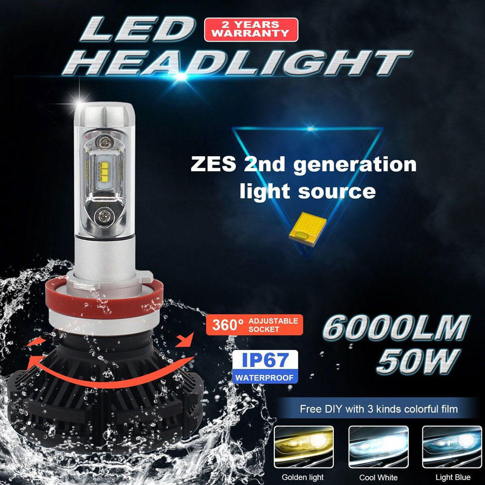 Best LED Headlight Bulb Conversion Kit X3